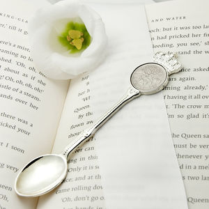 Personalised Lucky Sixpence Christening Teaspoon - baby care
