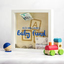 Personalised New Baby Fund Money Box Frame