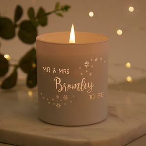Engaged Couple Christmas Gift Christmas Candle - candles & home fragrance