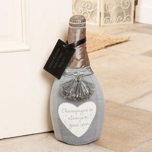 Personalised Champagne Novelty Fabric Doorstop