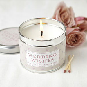 Wedding Wishes Scented Candle Gift