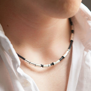 Personalised Men's Morse Code Necklace - necklaces