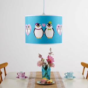 Couple Love Penguins Lampshade