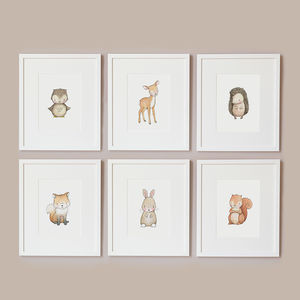 Woodland Baby Print - children's pictures & paintings
