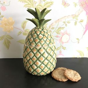 Pineapple Cookie Jar - flowers, plants & vases