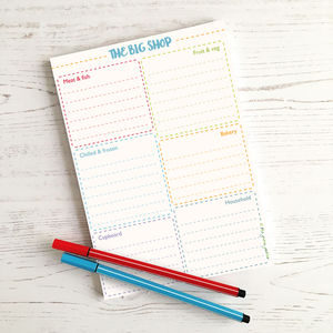 The Big Shop Shopping List Notepad - notepads & to do lists