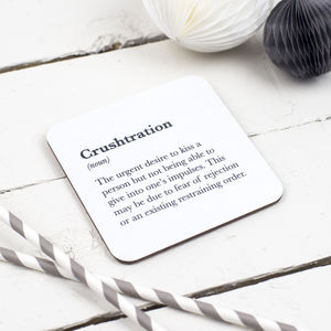 Funny 'Crushtration' Coaster - kitchen