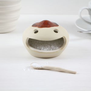 Ceramic Happy Face Salt Cellar - kitchen accessories