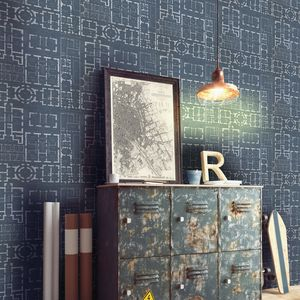 Chateau Bleu Wallpaper Set Of Three Rolls - office & study