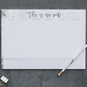 A4 Weekly Planner Desk Pad 'This Is My Week' - 2018 calendars & planners
