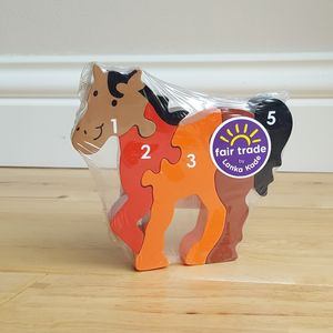 Jigsaw Wooden Horse - toys & games