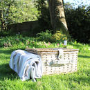 Wicker Picnic Basket With Blanket