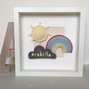 Personalised Weather Name Frame - mixed media & collage