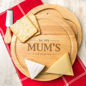 Vintage Personalised Mothers Day Gifts Cheese Board - personalised mother's day gifts