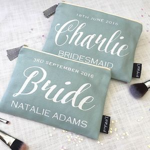 Personalised 'Duck Egg' Glitter Luxury Flat Bag - wedding fashion