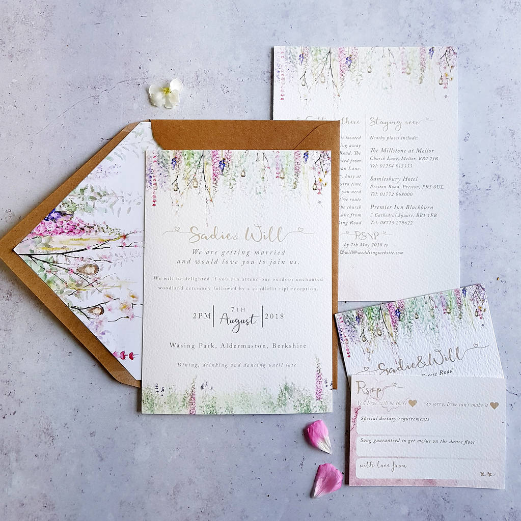 whimsical\' wedding invitation by julia eastwood | notonthehighstreet.com