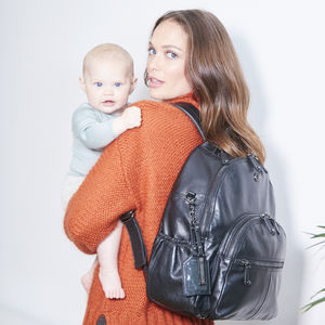 Joy Xl Leather Baby Changing Backpack