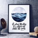 He Calmed The Storm To A Whisper Watercolour Print