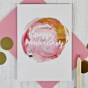 Glitter And Paint Anniversary Card - shop by category