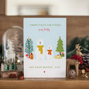 Personalised Polar Bears Baby's First Christmas Card