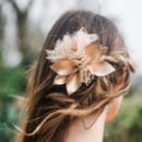 Rose Gold Leather Hair Comb 'Morgelyn'