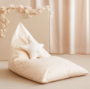 Zen Bean Bag In Gold Stella/Dream Pink