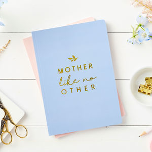 Personalised Mother Foiled Notebook