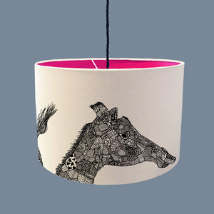 Giraffe Lampshade With A Range Of Colour Linings