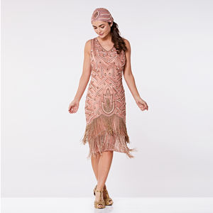 Hollywood Art Deco Inspired Hand Embellished Dress - flapper dresses