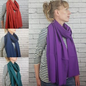 Oversized Scarf Teal, Purple, Navy, Burnt Orange