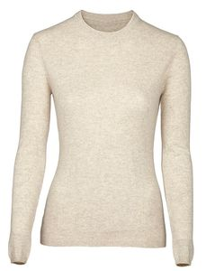 Cashmere Knitted Crew Neck Jumper - sale