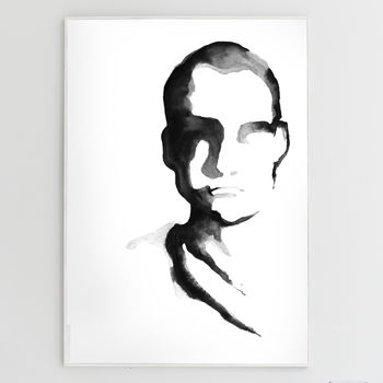 Monochrome Man Framed Print