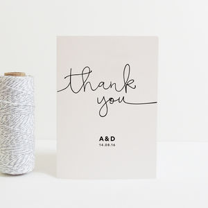 Kate Personalised Wedding Thank You Cards