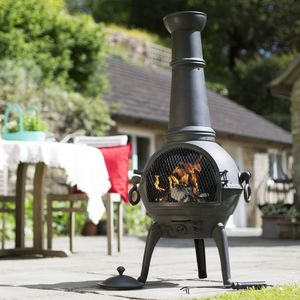 Extra Large Cast Iron And Steel Chimnea - new in garden