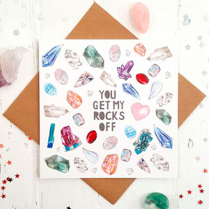 Rude Rocks Funny Valentines Card