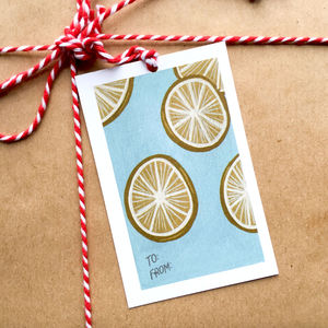 'Dried Orange Slices' Gift Tags