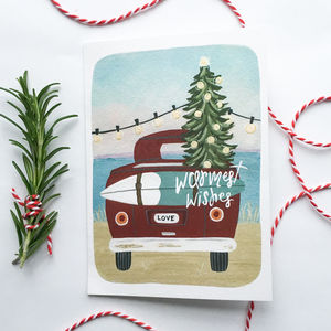'Warmest Wishes' Christmas Greeting Card - christmas sale