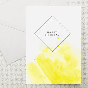 Set Of Six Watercolour Greeting Cards