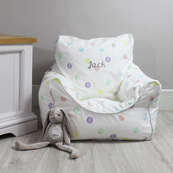 Personalised Childs Spot Bean Bag Chair
