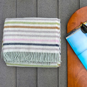 Stripe Wool Blanket - picnics & barbecues