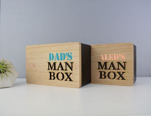 Personalised Dad's Man Box