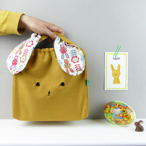 Easter Bunny Rabbit Fabric Children Bag - bags, purses & wallets