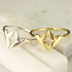 Personalised Twin Hummingbird Ring - rings