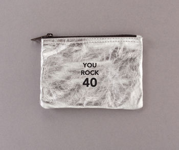 'You Rock 40' Zipper Pouch Bag 40th Birthday Gift