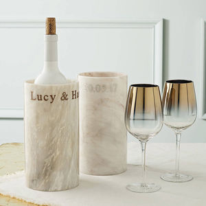 Personalised Marble Wine Cooler - engagement gifts