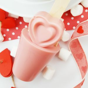 Strawberry Heart Hot Chocolate Spoon