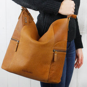 Antique Leather Hobo Bag - bags
