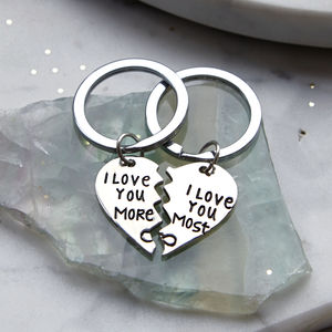 I Love You More Keyring Set