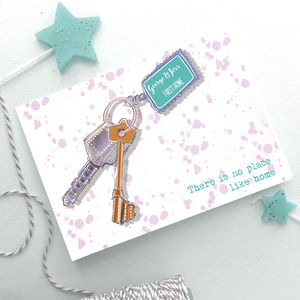 'New Home' Personalised Hand Drawn Keys Card