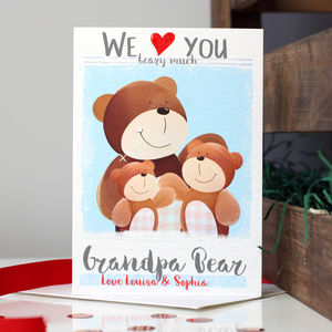 Personalised Love You Beary Much Daddy Card